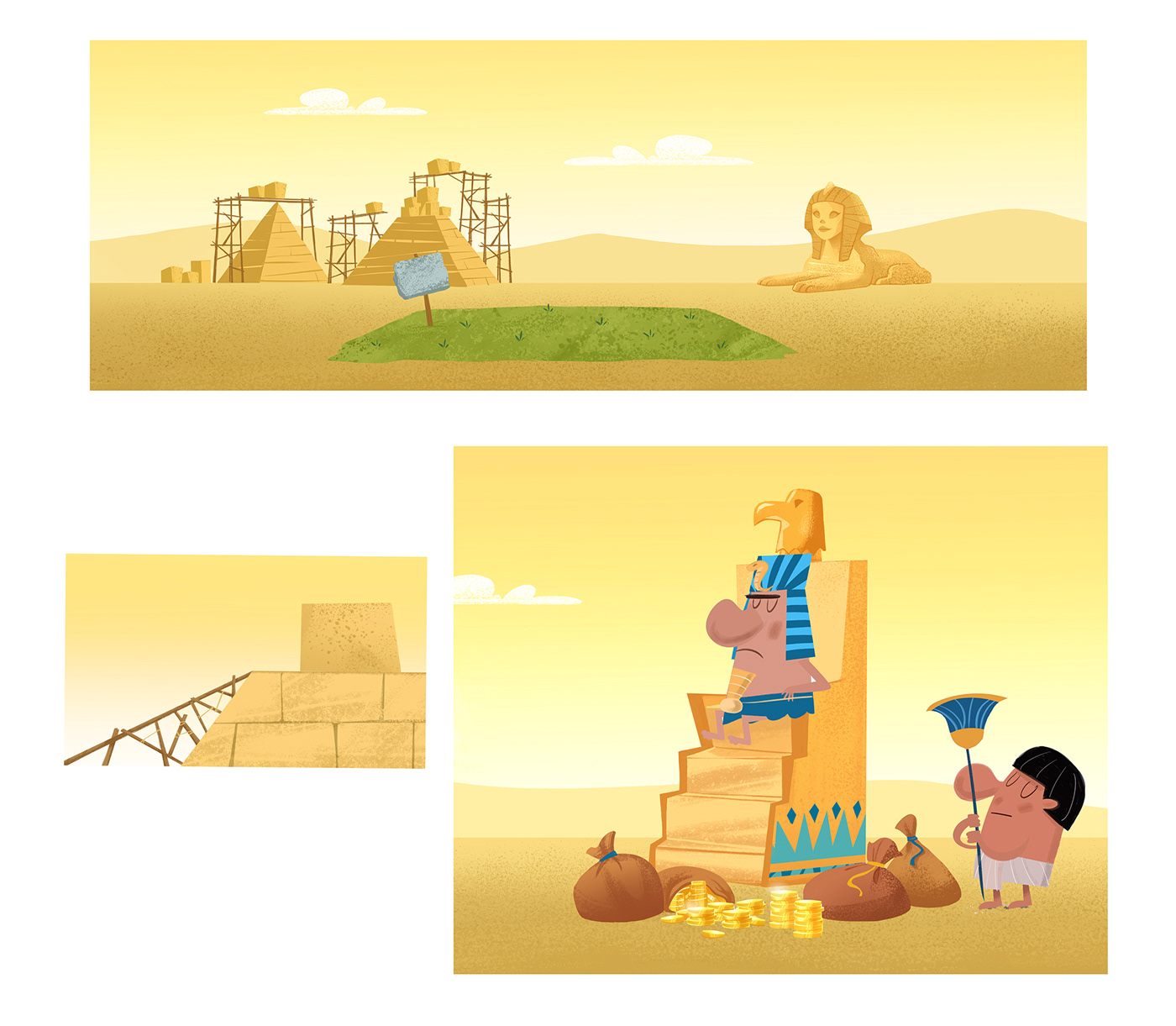 animation  background design cartoon design Digital Art  digital paint environment funny ILLUSTRATION  Visual Development