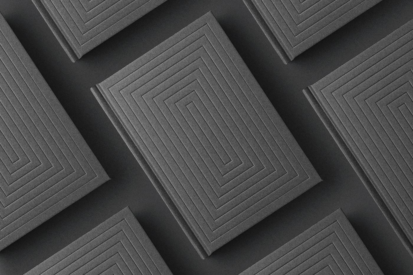 book Bookdesign minimal Minimalism deboss monochrome japan print printdesign