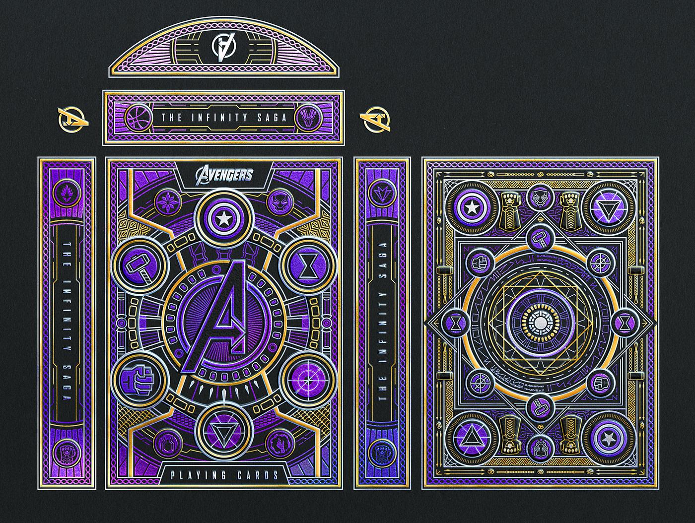 Avengers Character Hulk ILLUSTRATION  infinity iron man marvel Playing Cards theory11 Thor