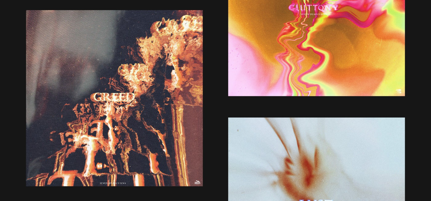 Album cover covert art music religion Bibel visual trippy psychedelic color