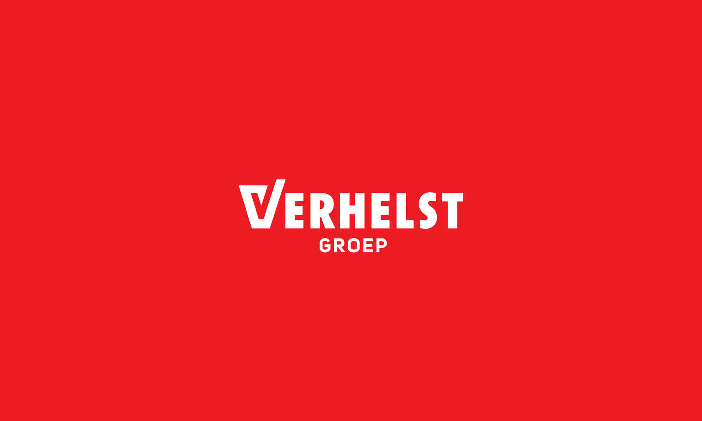 verhelst construction contractor branding  identity red White checkmark Photography  check