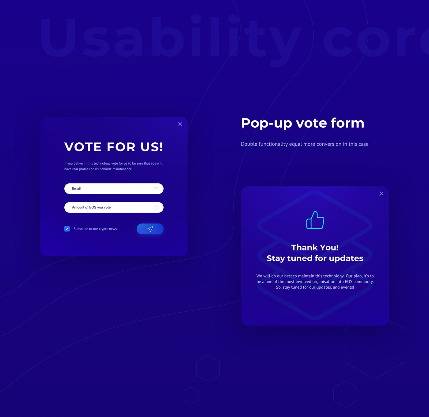 blockchain crypto digital illustrations flat material design mobile Interface Web eos