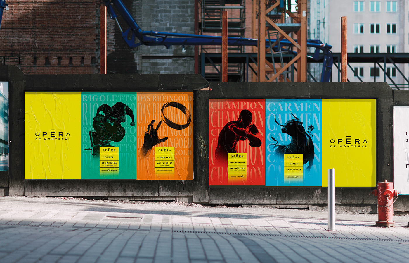 opera Montreal ILLUSTRATION  poster Type Animation motion saison kynetic cultural Lyric