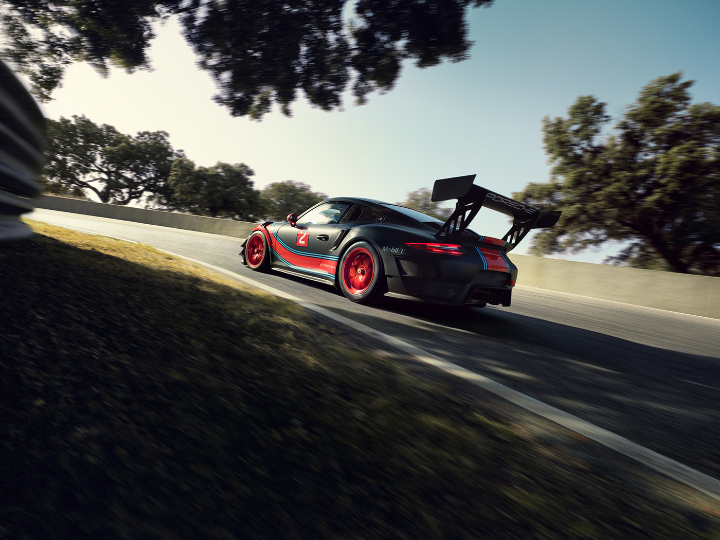 Porsche ClubSport Porsche 911 transportation automotive   retouching  postproduction racetrack GT2 RS