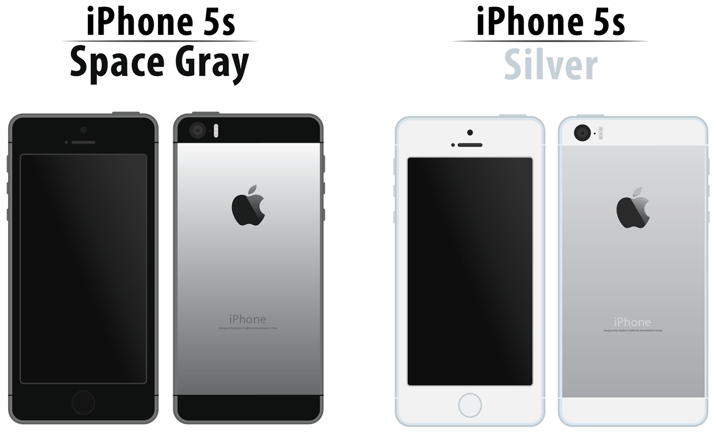 iphone space gray iphone 5s space gray and silver illustration on behance 3412