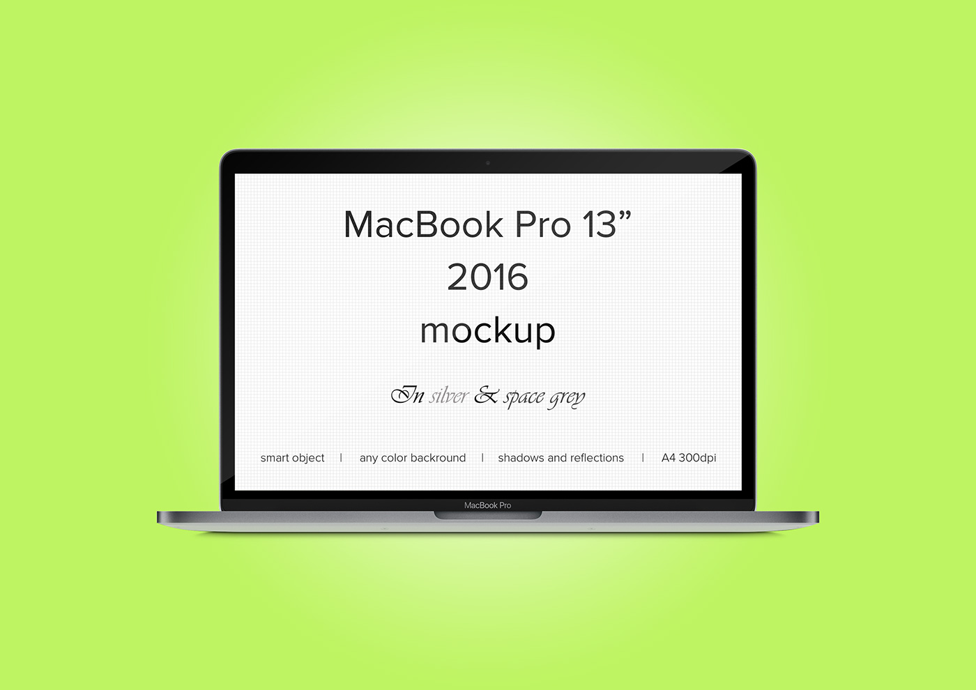 PSD. MacBook Pro 2016 mockup. Silver and space grey. on Behance