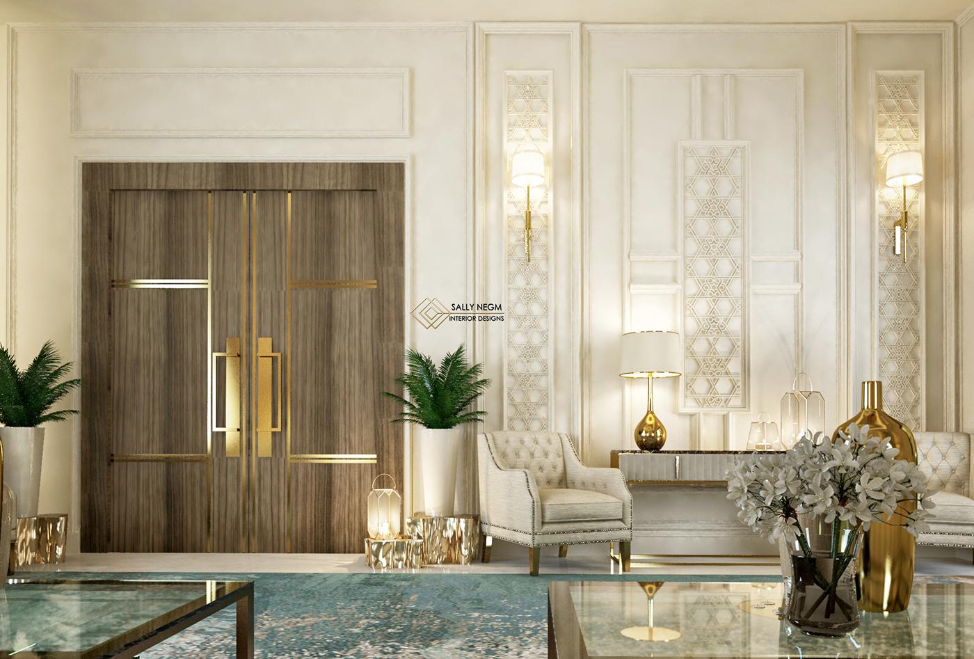 Luxury Modern Islamic Majlis And Dining Villa Uae On