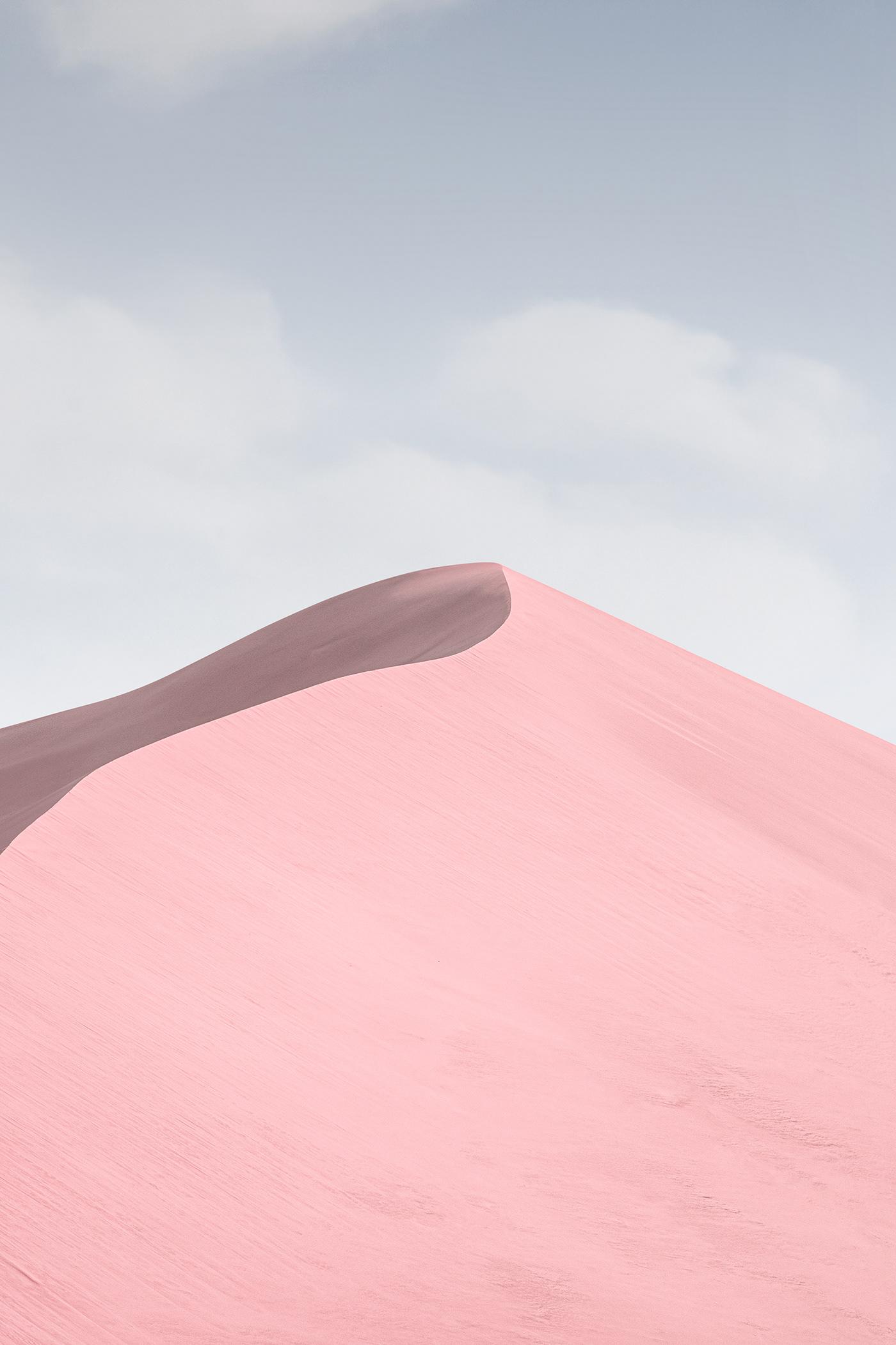desert Jonas daley Magic Reality pink desert sand hill wallpaper 壁纸  粉色沙漠 魔幻现实 鸣沙山