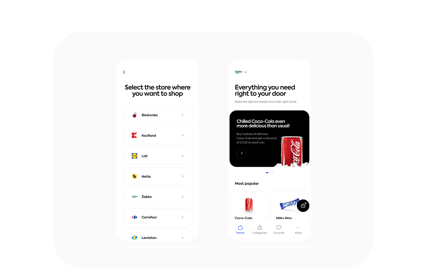 animations application concept e-commerce Food  Grocery mobile motion UI ux