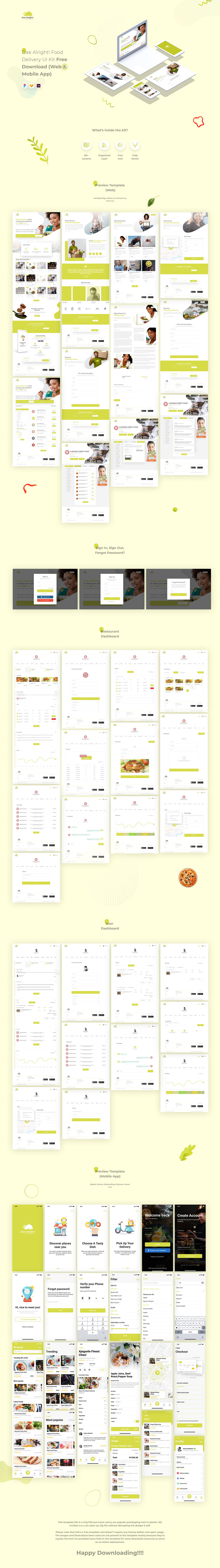 ui kit free download Web Design  Mobile app local food delivery restaurant Food  Restaurant app food brand