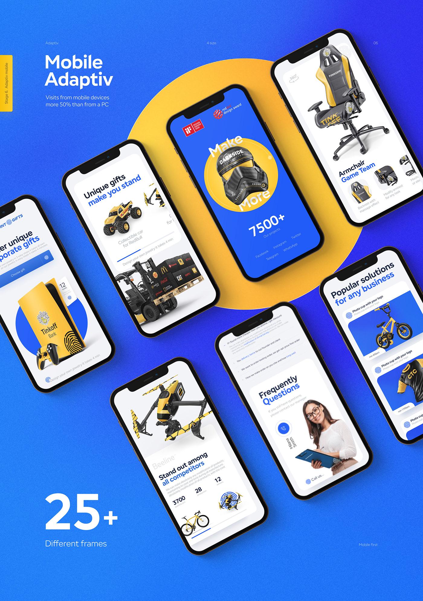 animation  e-commerce gift Interface landing Minimalism product design  UI ux Web