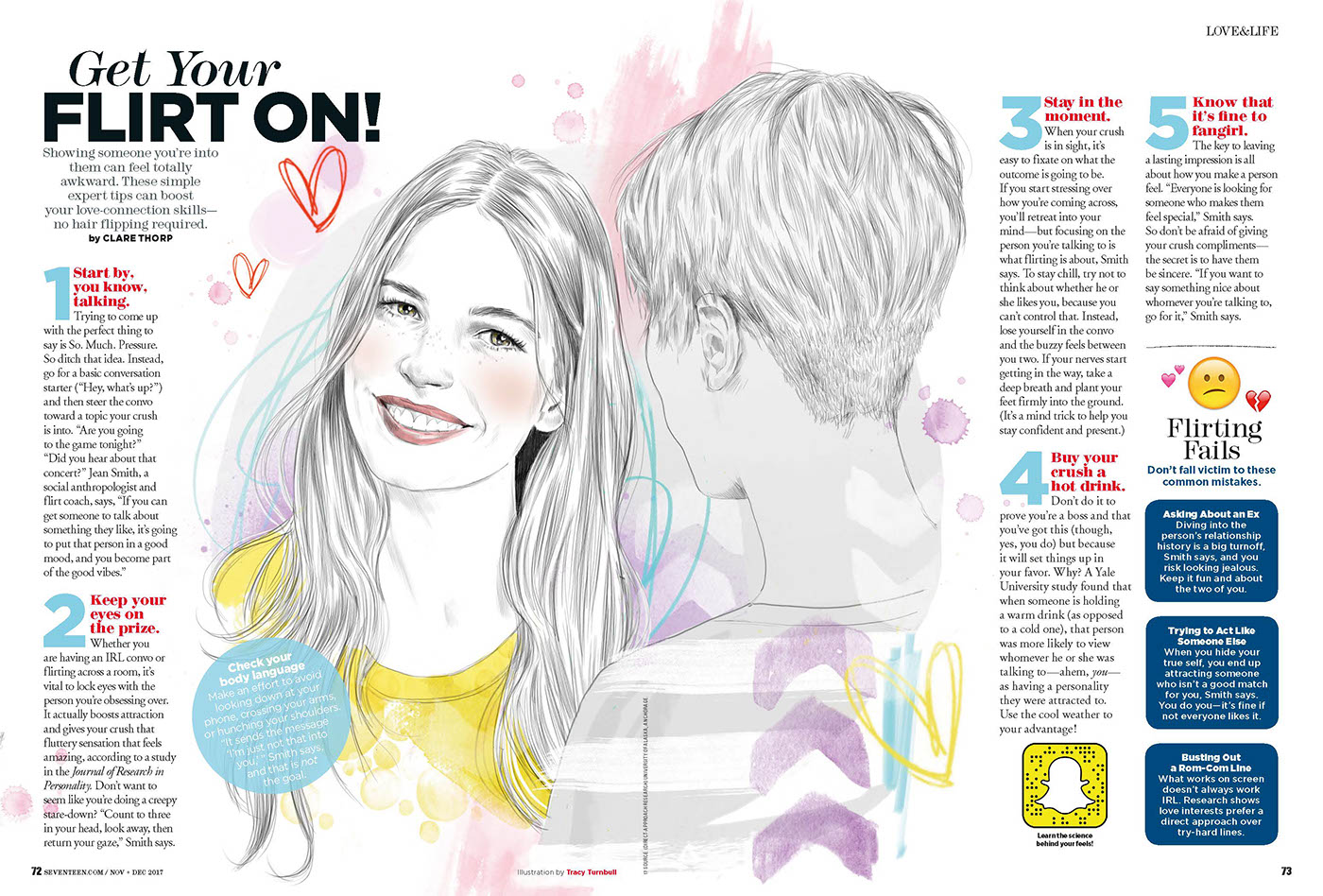 Editorial commissions for Seventeen Magazine USA on Behance