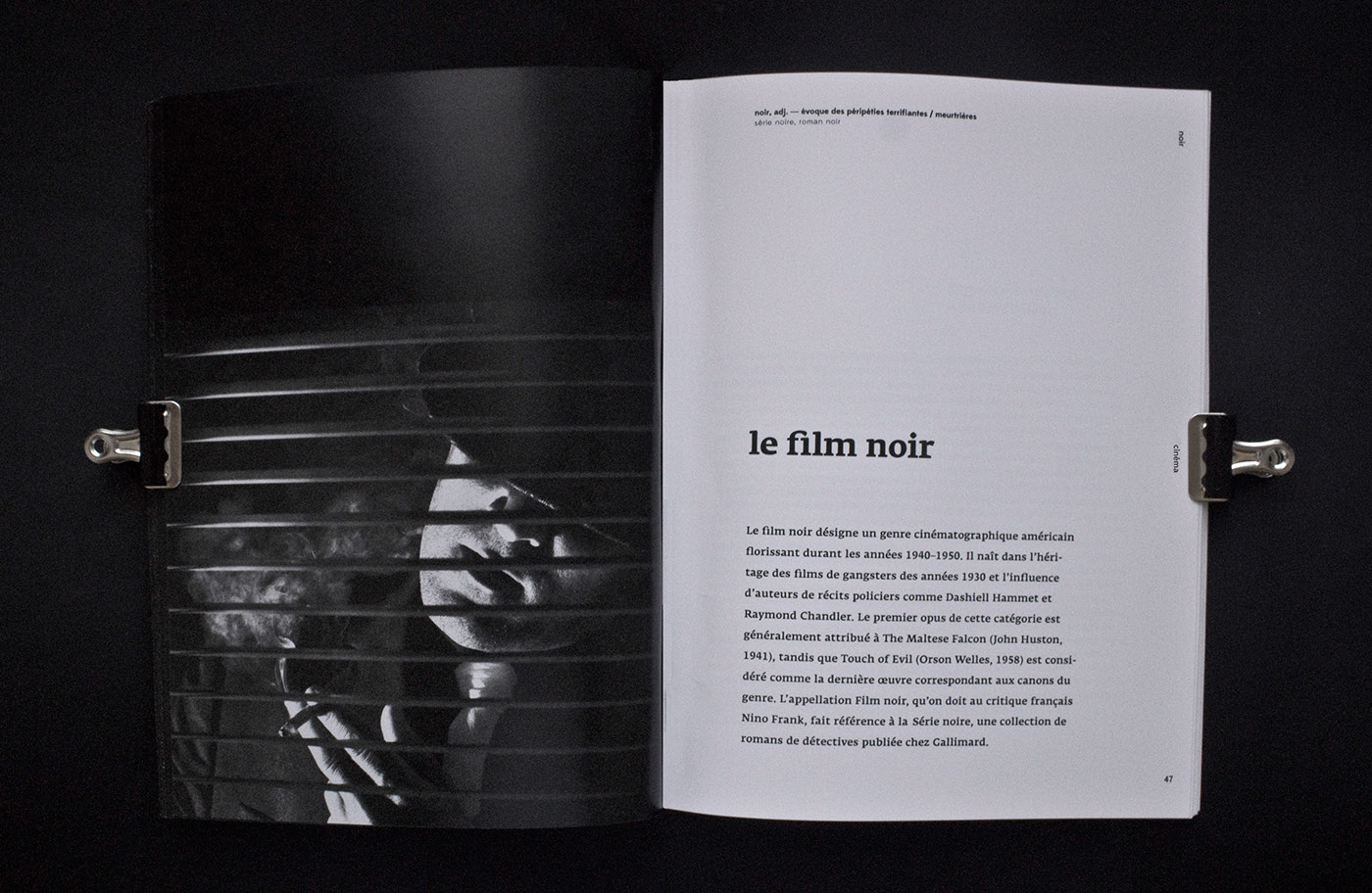 noir magazine edition black and white gradient