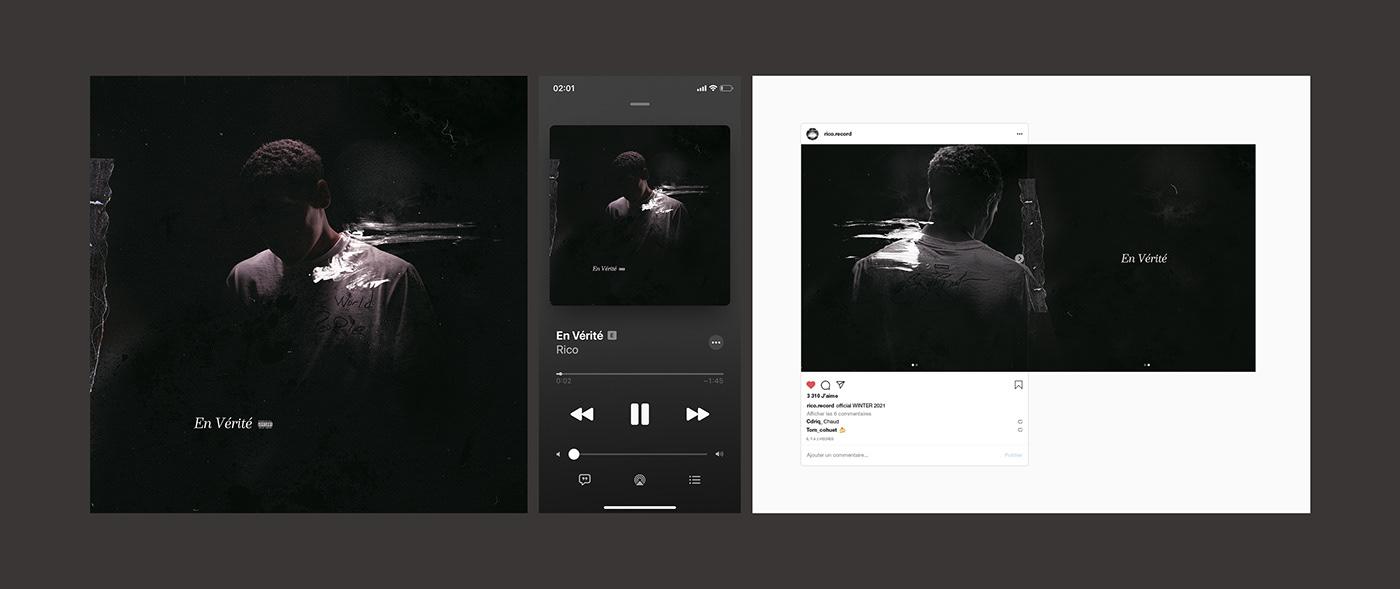 Album art direction  artwork cover music Photography  rap Single typography