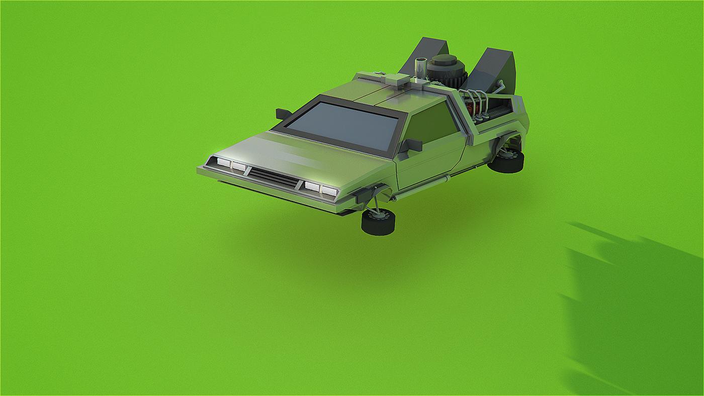 motion graphics  CGI animation  birthmark car movie stylised vray design ILLUSTRATION