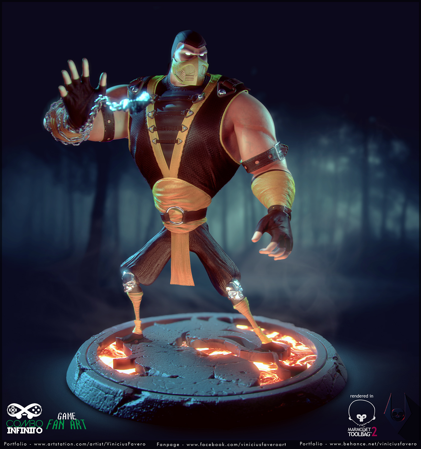 Scorpion Mortal Kombat Animated Series On Behance