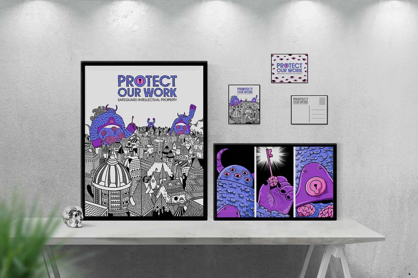 art branding  comic Drawing  graphic design  ideas ILLUSTRATION  Intellectual Property monster poster
