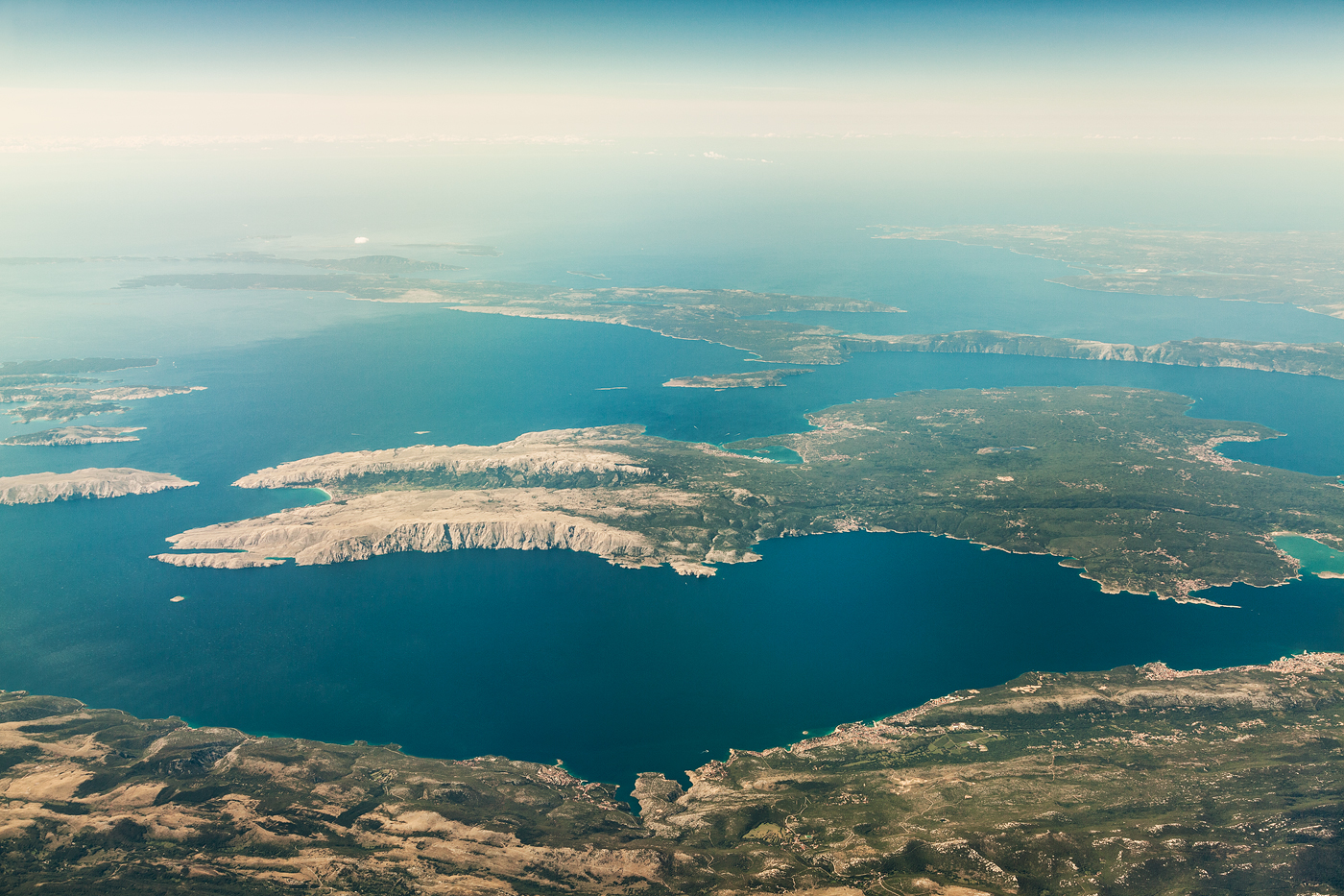 Aerial Landscape Nature contemporary weather light clouds structure above view Ocean cityscape Travel Urban Top Shot