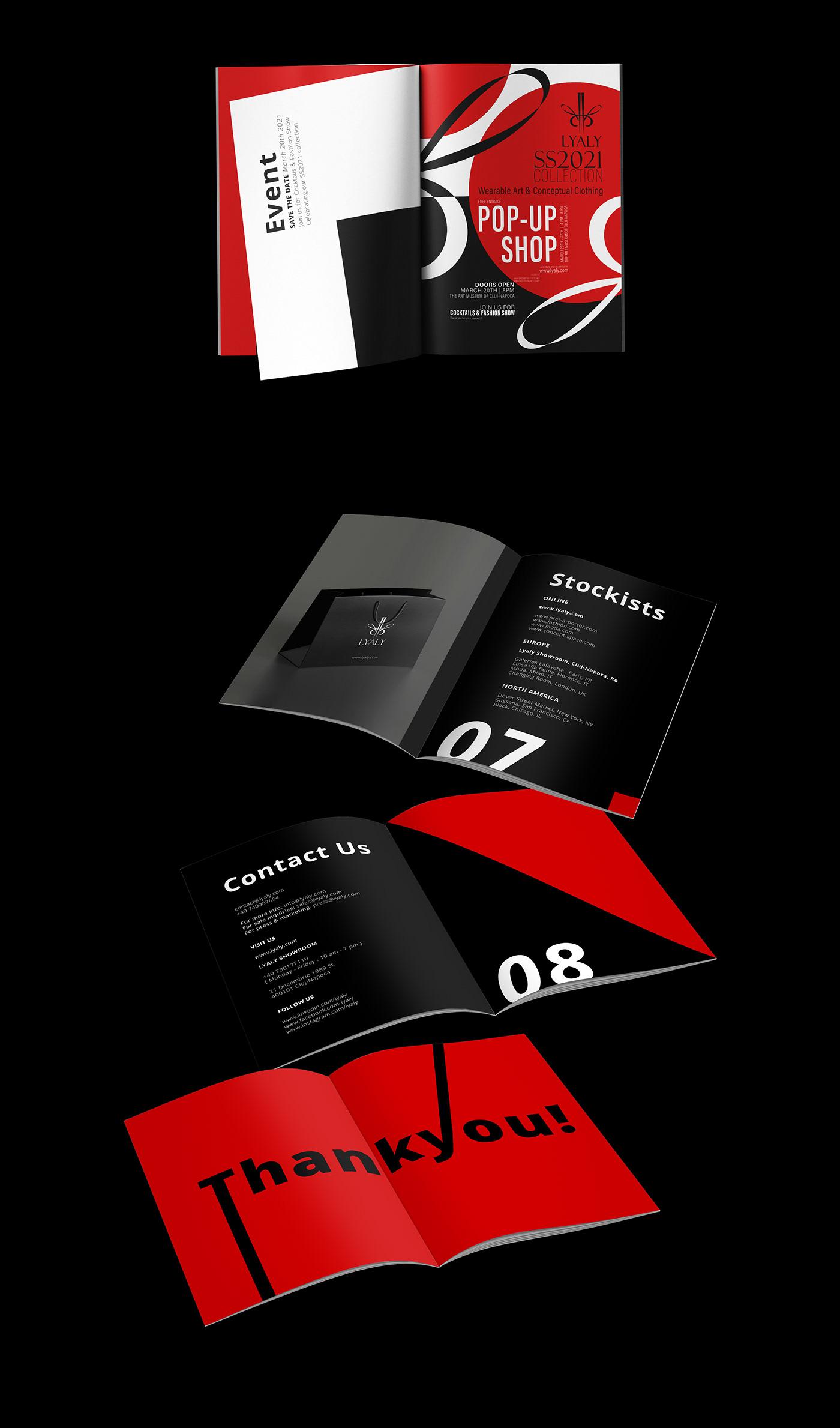 book branding  brochure catalog design editorial Fashion  Lookbook magazine print