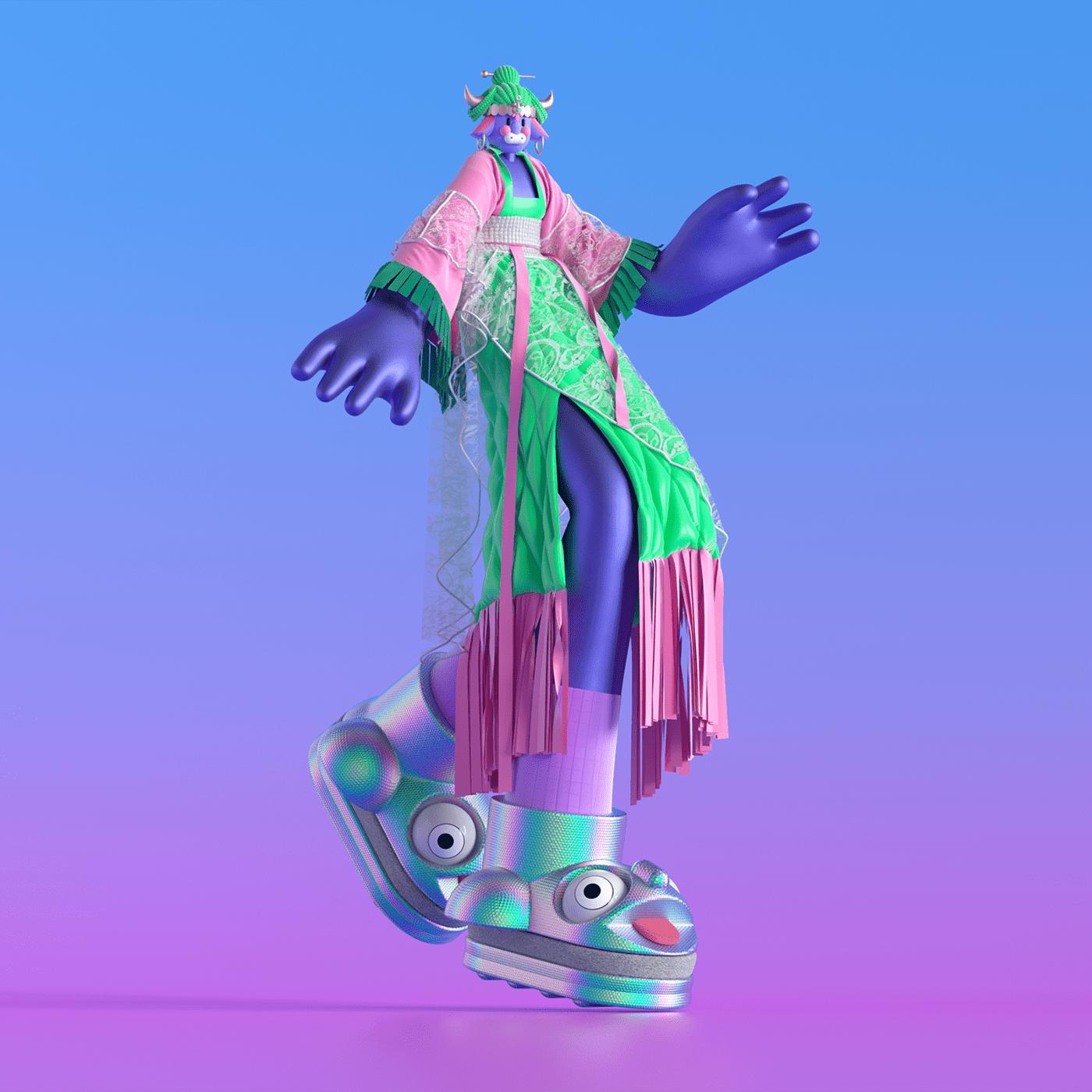 blender c4d Character 灰昼