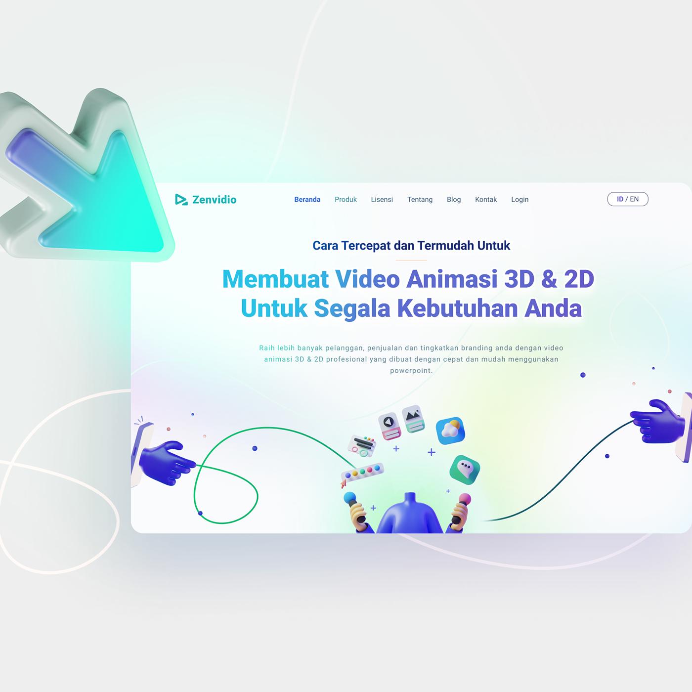 3D 3D Assets Figma Flash gradient Icon Powerpoint UI uiux Website