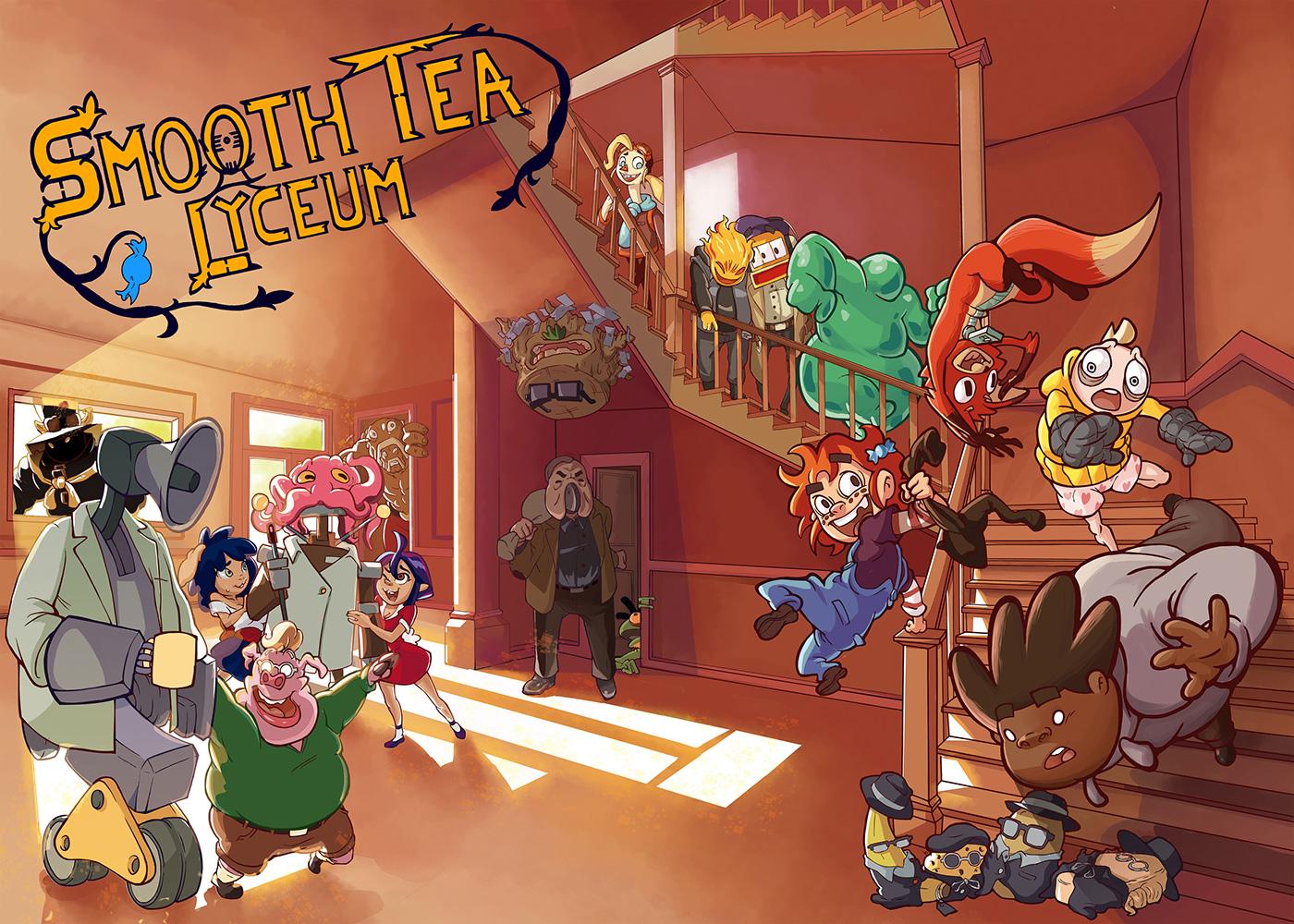 animacion comic concept art digital cartoon