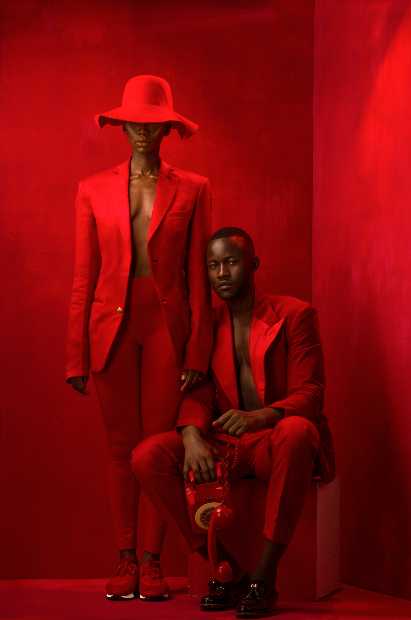 Fashion  african africa red suits creative kenya