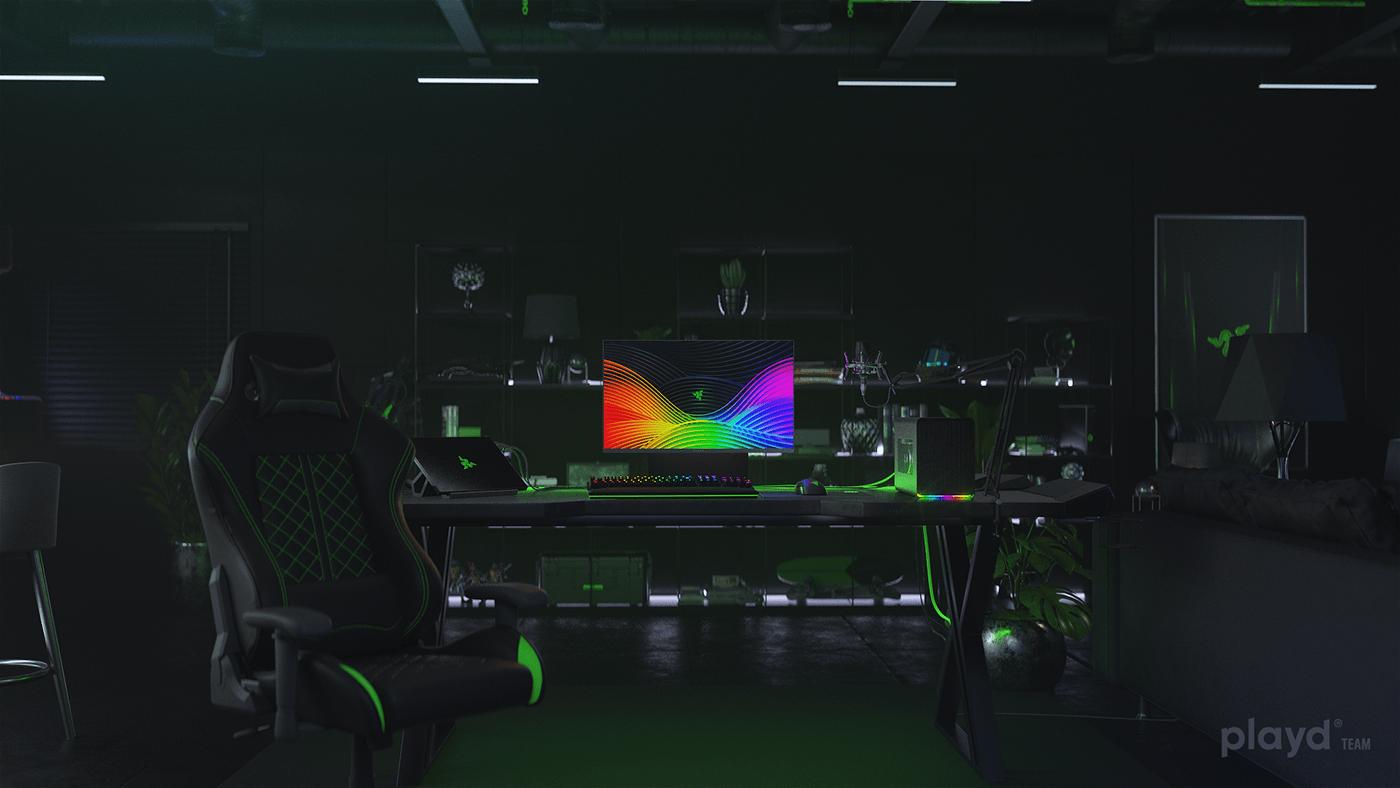 razer technologies research and development rnd black green free HDR digital