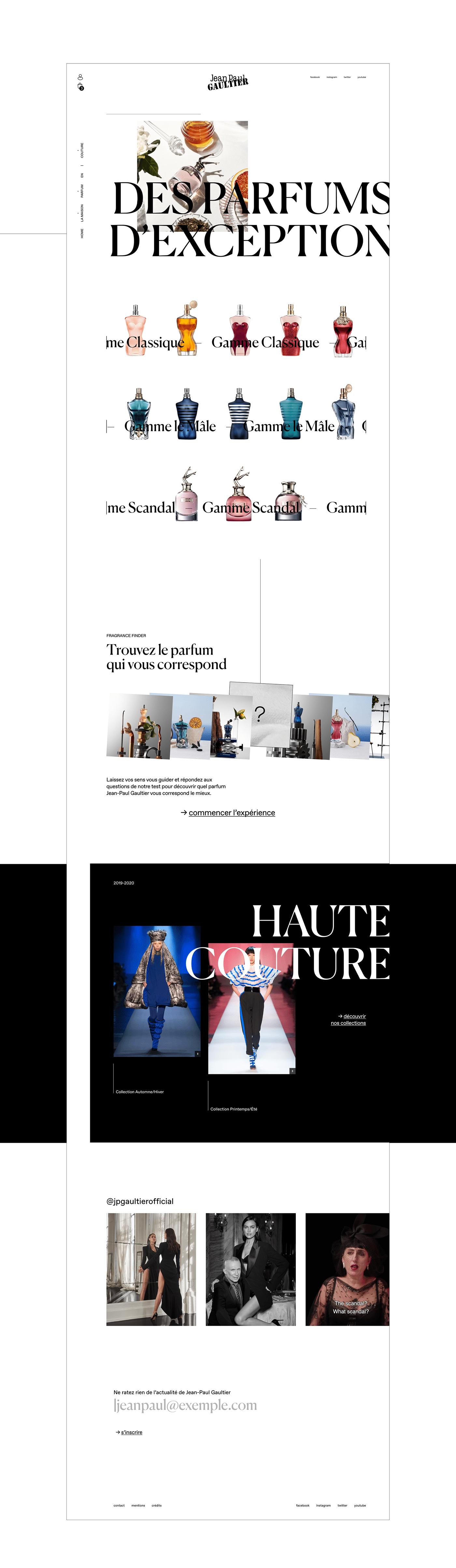 couture Gaultier jacket Mode perfum showroom