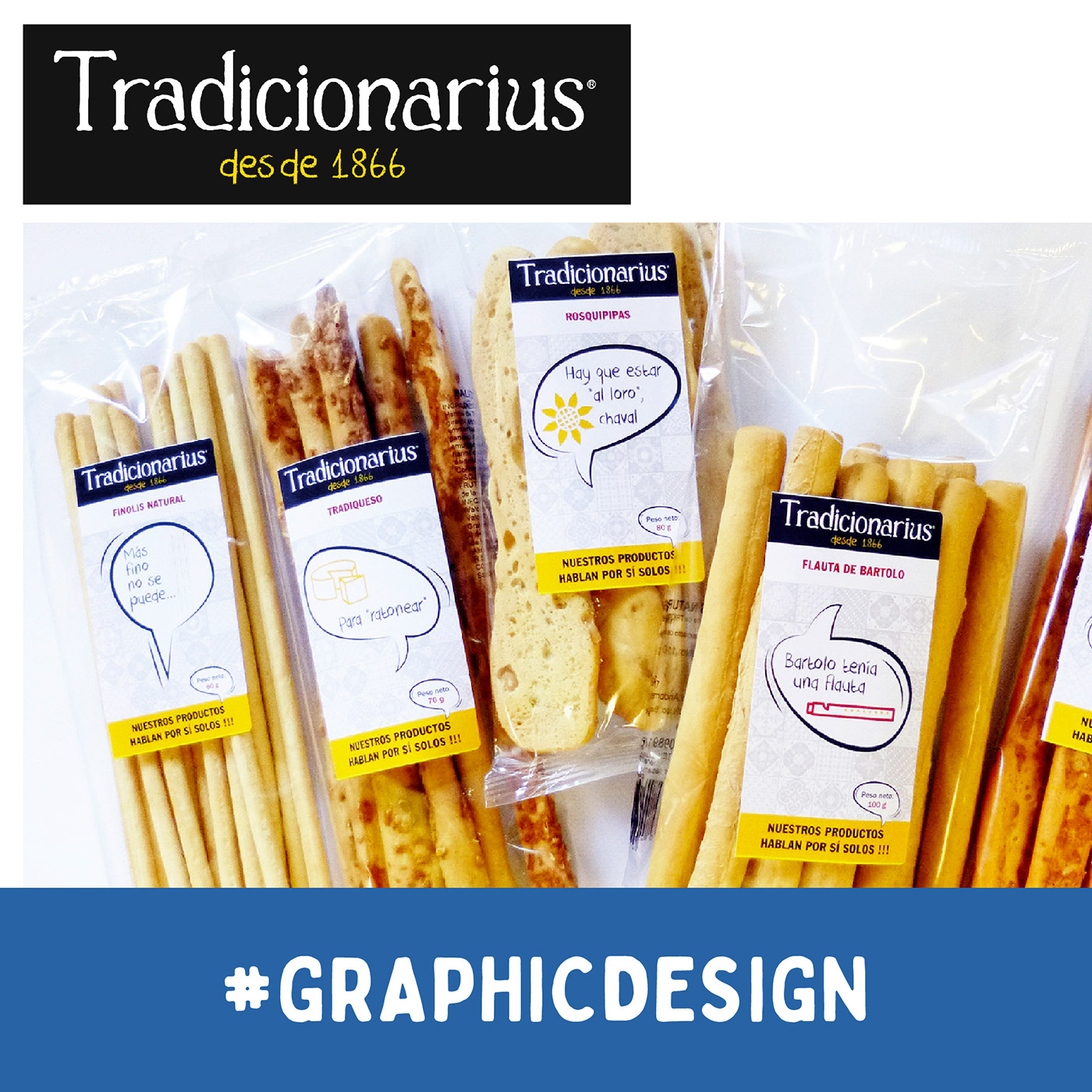 Bread sticks labels