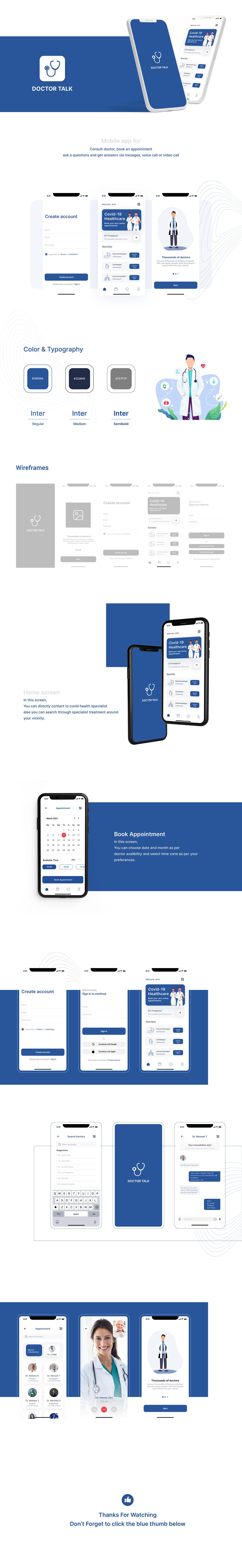 app design Appointment Booking doctor app doctor booking app Doctor Consultation Mobile app mobile app design UI/UX