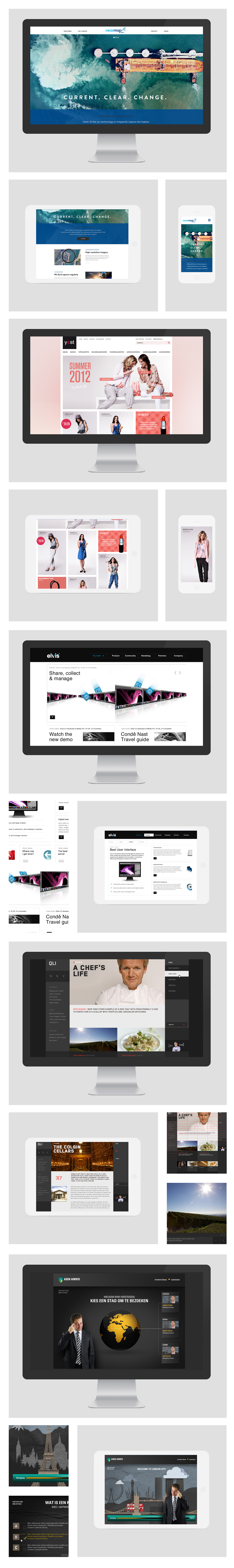 Webdesign Collection Travel hotel Food  business webshop Clothing luxury industrial tv personality Technology ict IT