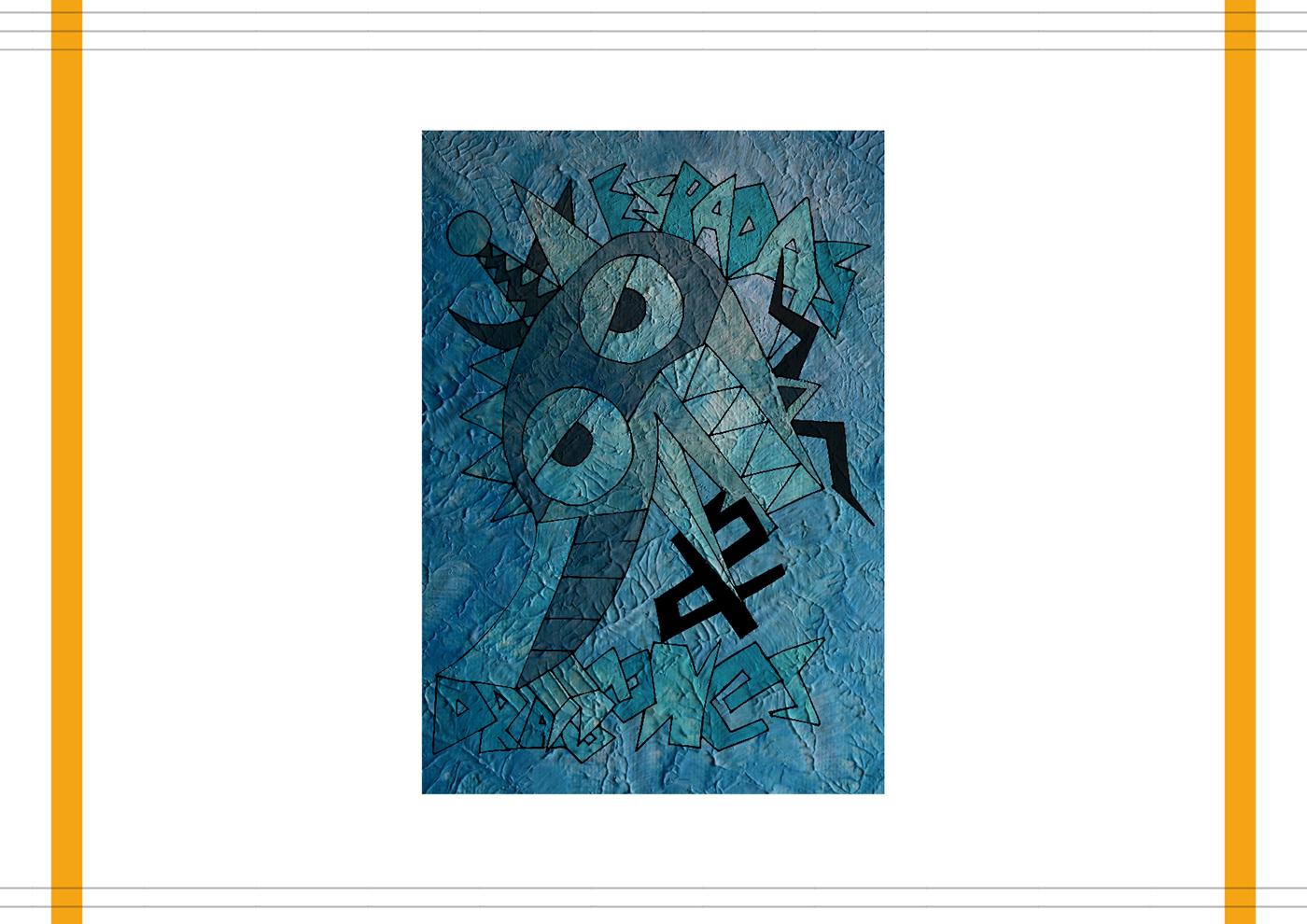 diseño gráfico mar del plata muestra Choquegrafia lettering caligrafia movimientos artisticos