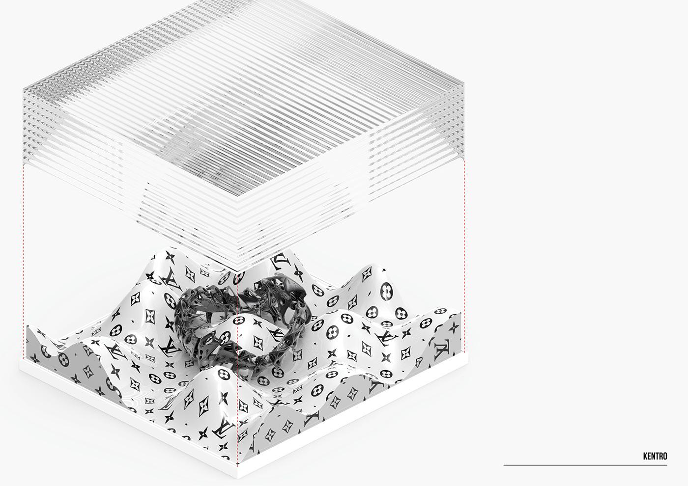jewelry Jewellery LV Louis vuitton architecture 3D 3d print Fashion
