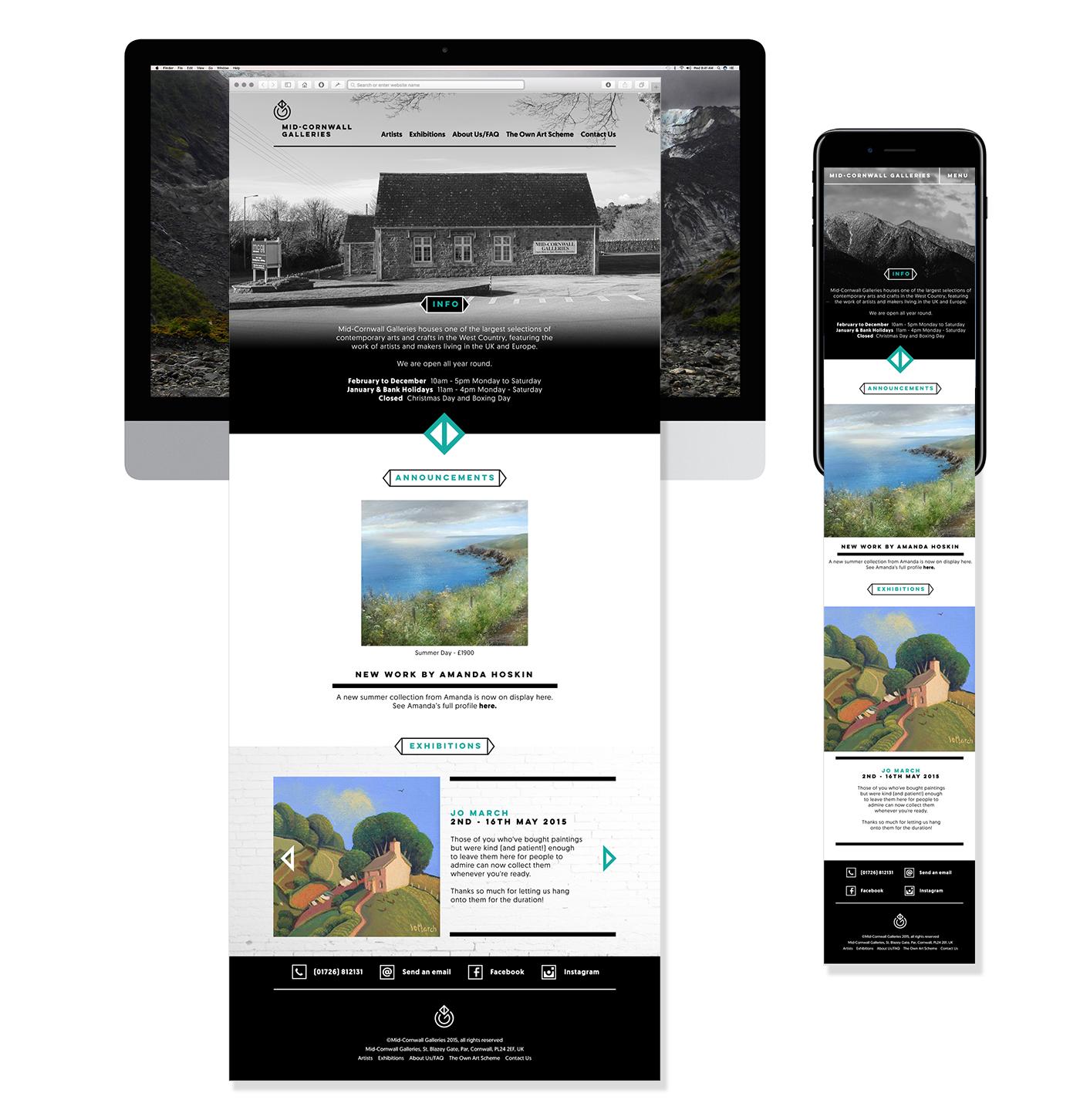 Art Gallery  Website identity