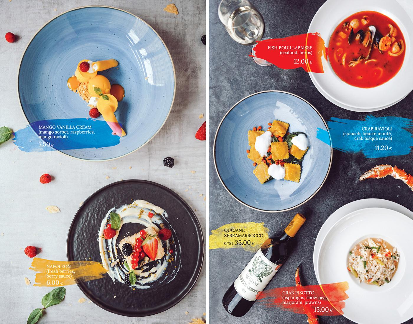 restaurant restaurant menu food photography Social Promotion high cuisine italian restaurant