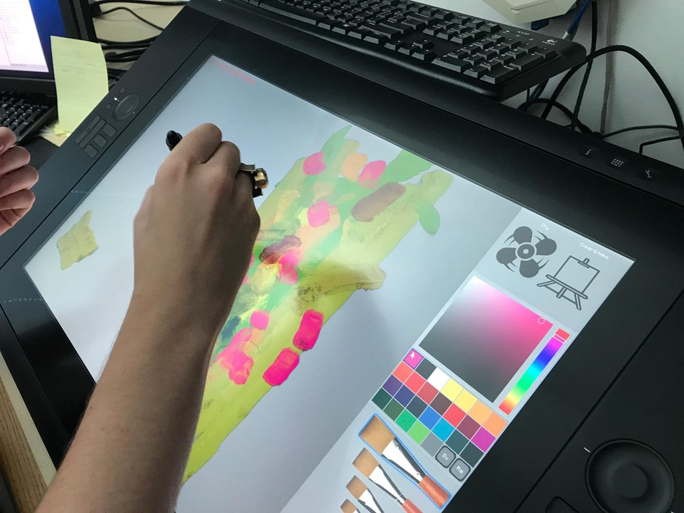 Adobe Wetbrush Wallpaper on Behance