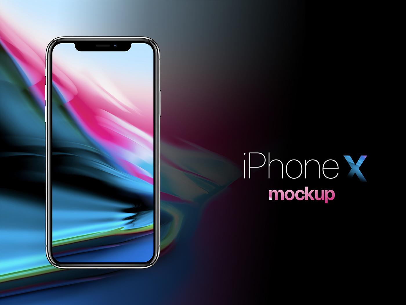 iPhone X free mockup on Behance