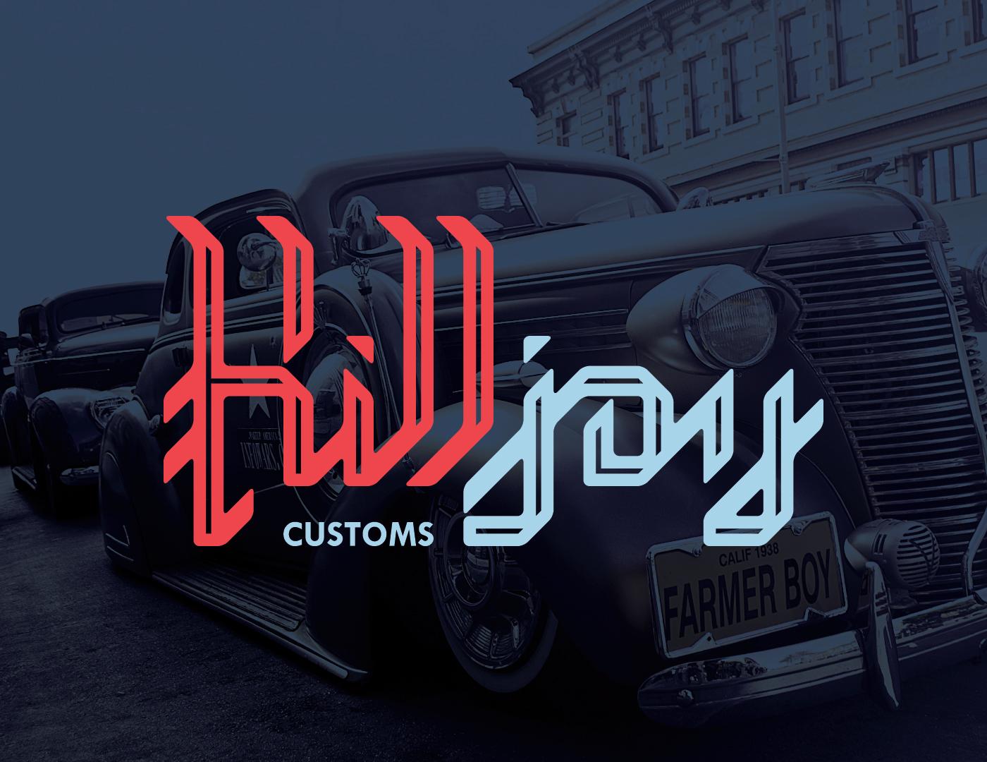 Blackletter Custom CustomCar Killjoy Calligraphy   logo orange blue lowrider classiccar