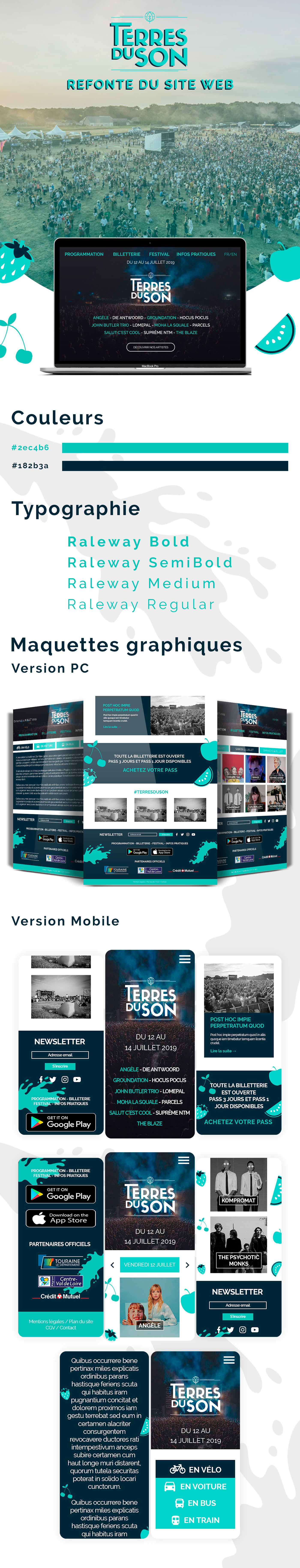UX design ui design Web Design  site web festival