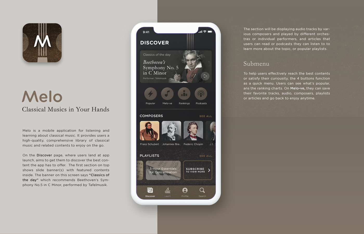 Mobile app application Mobile Application Music Player music player app music streaming music classical music app classical musics Music Streaming App