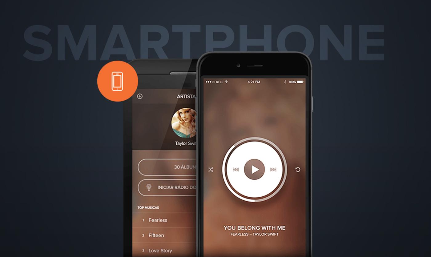 Music Player mobile orange gvt Streaming tv TV interface smartv smartphone
