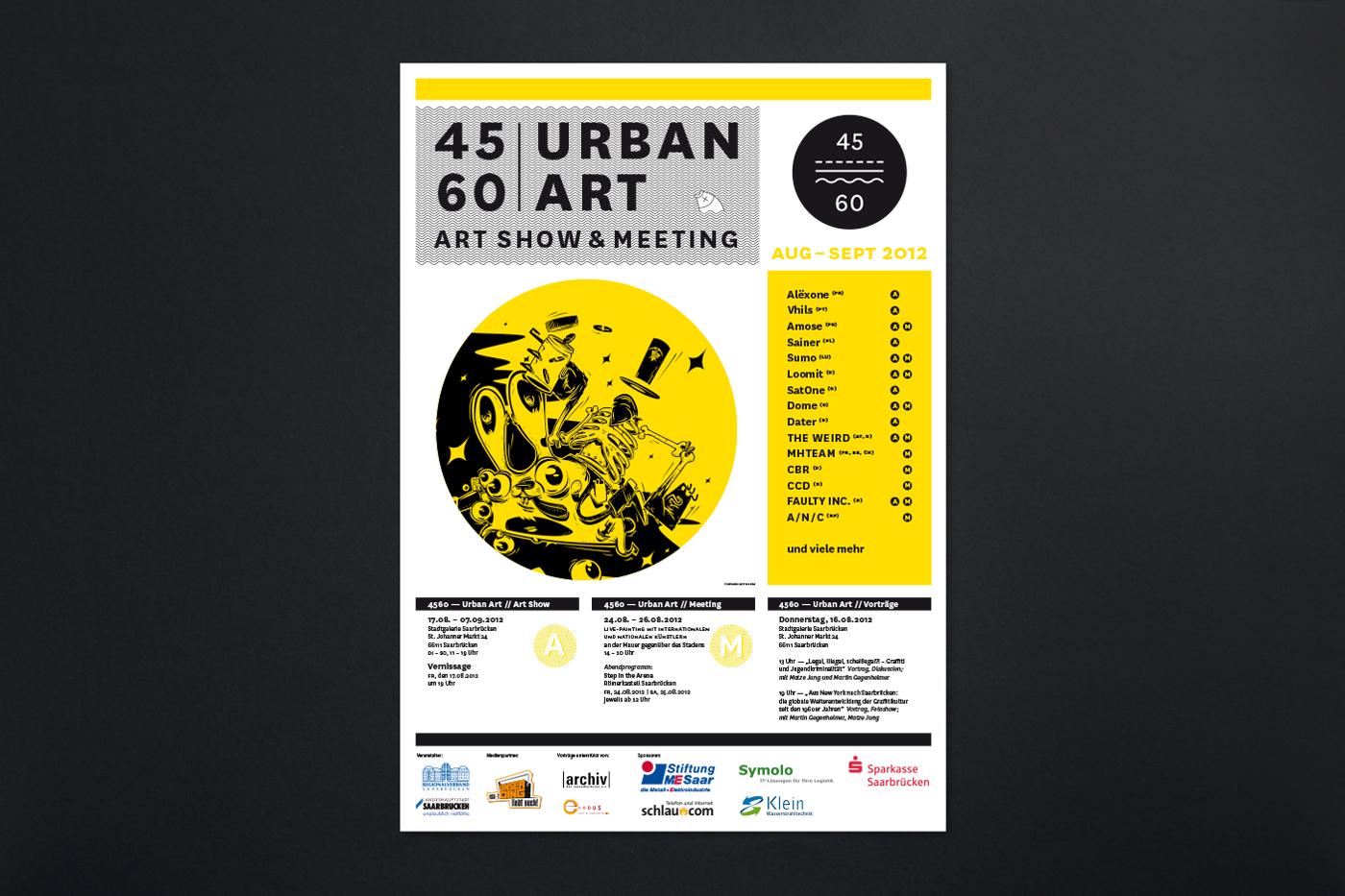 Graffiti art Urban Exhibition  logo poster flyer Event book slipcase