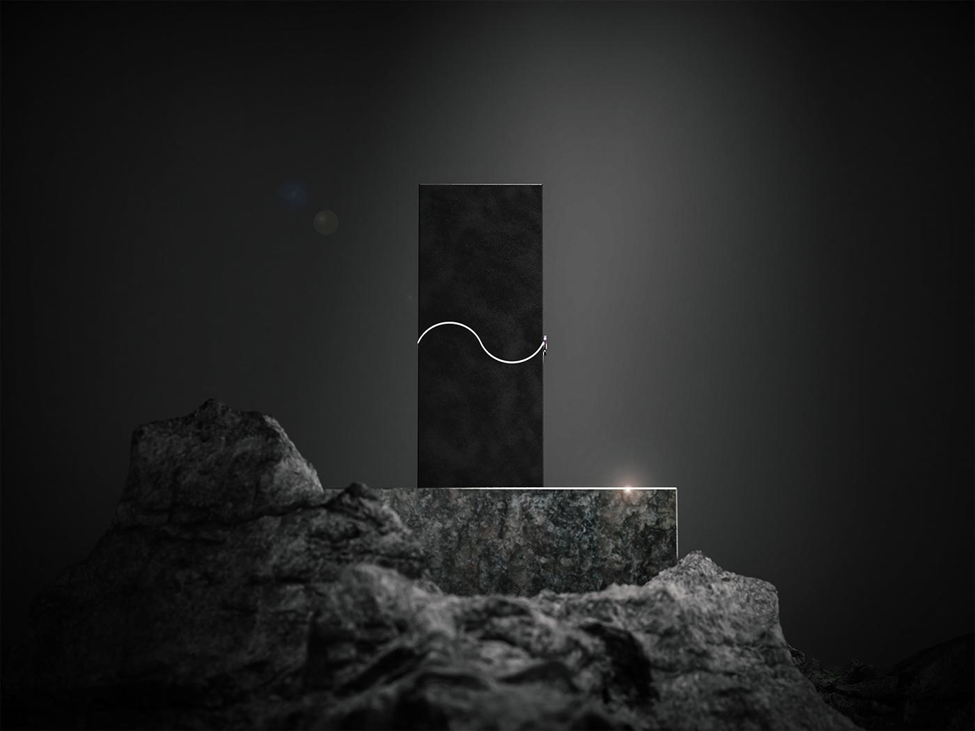 Image may contain: wall, rock and moon