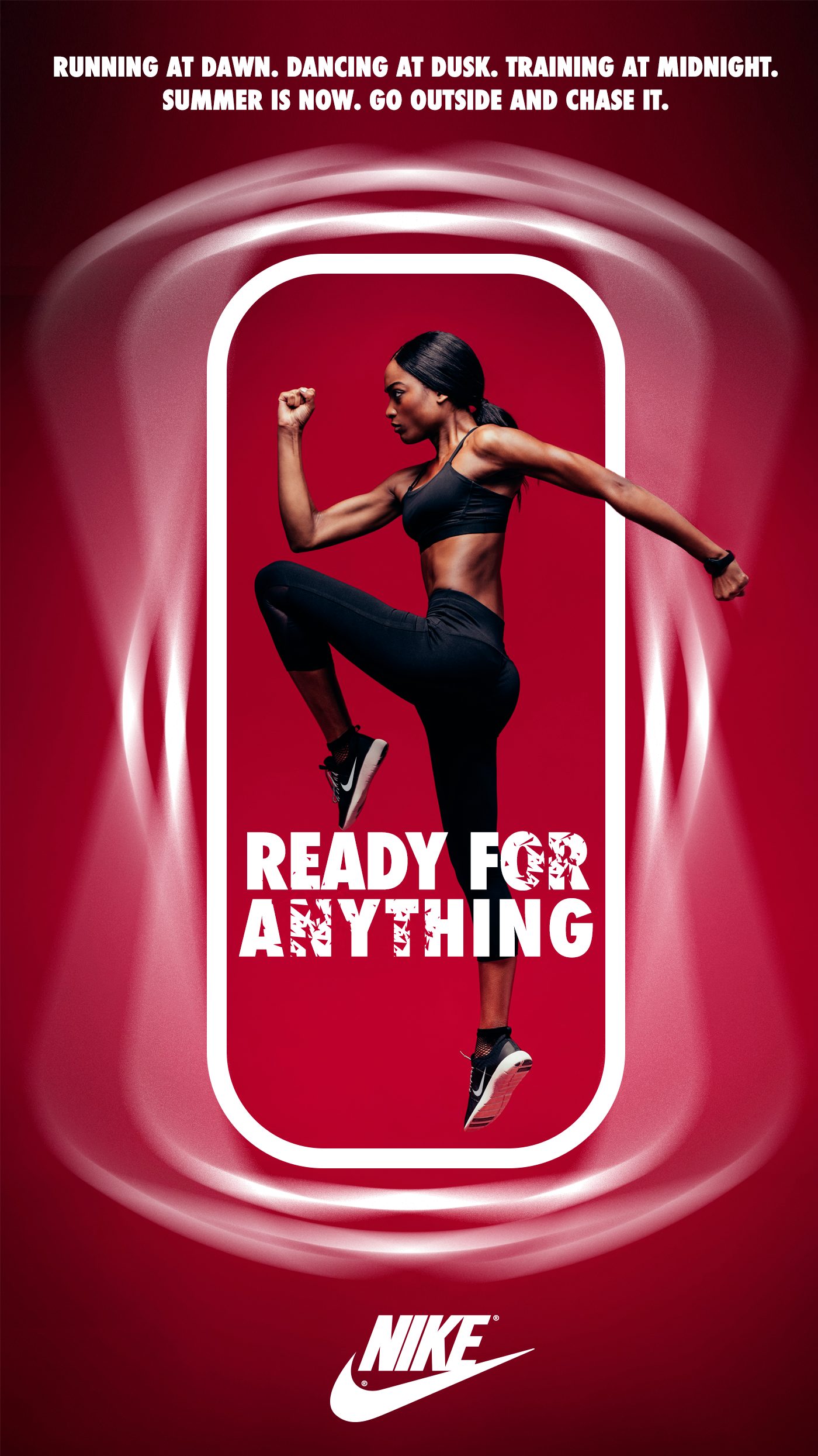 Nike sports advertasing print design running billboard