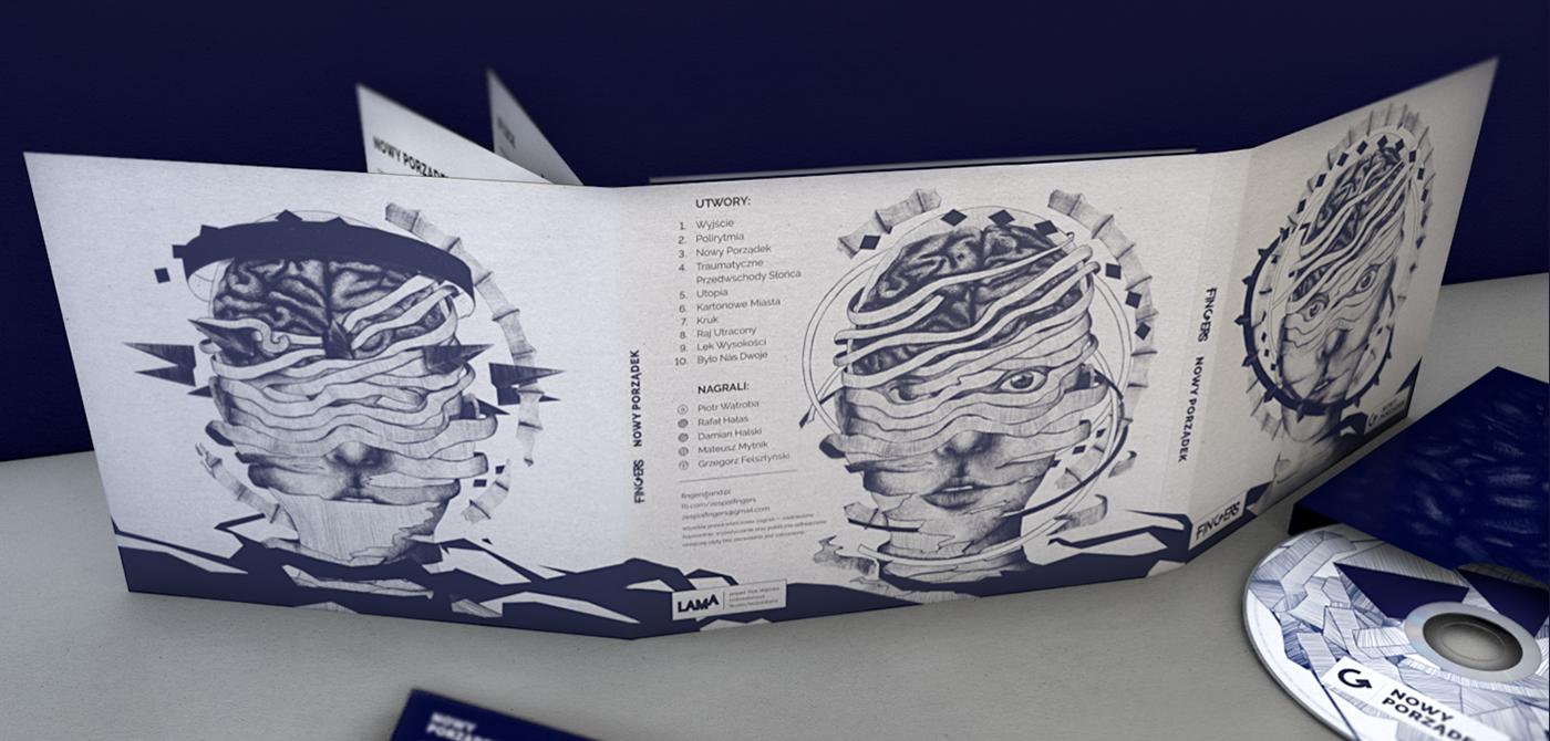 music rock design edition ILLUSTRATION  Drawing  poland Album print band