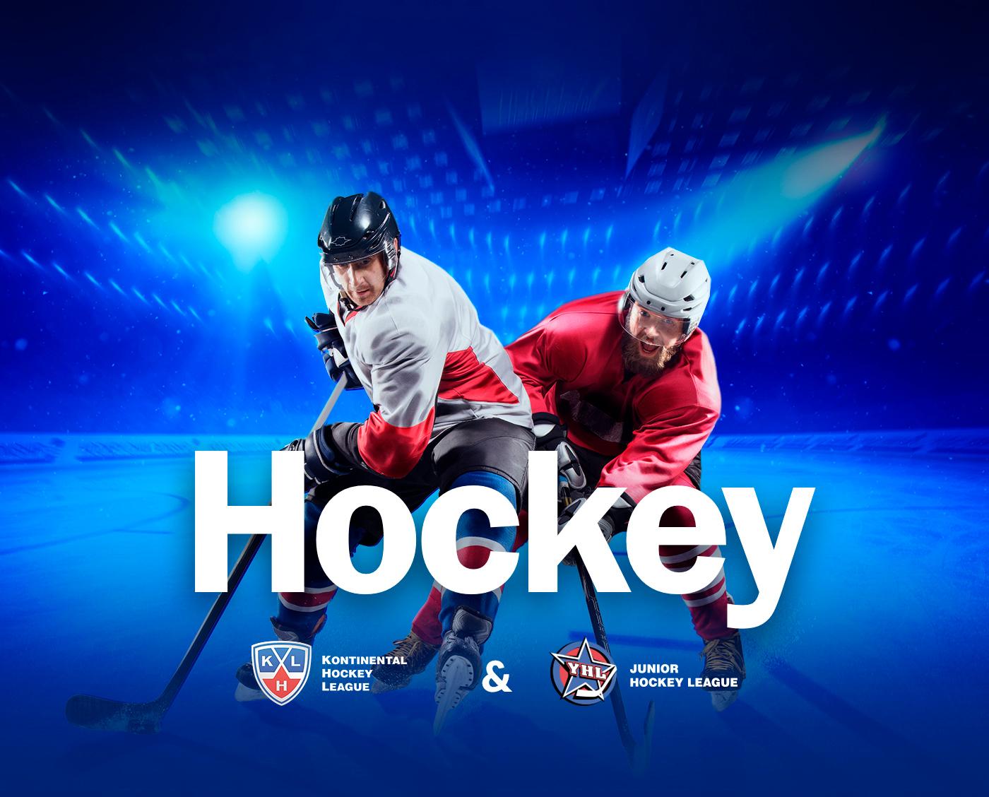 UI ux sport hockey Web corporate Adaptive match blue