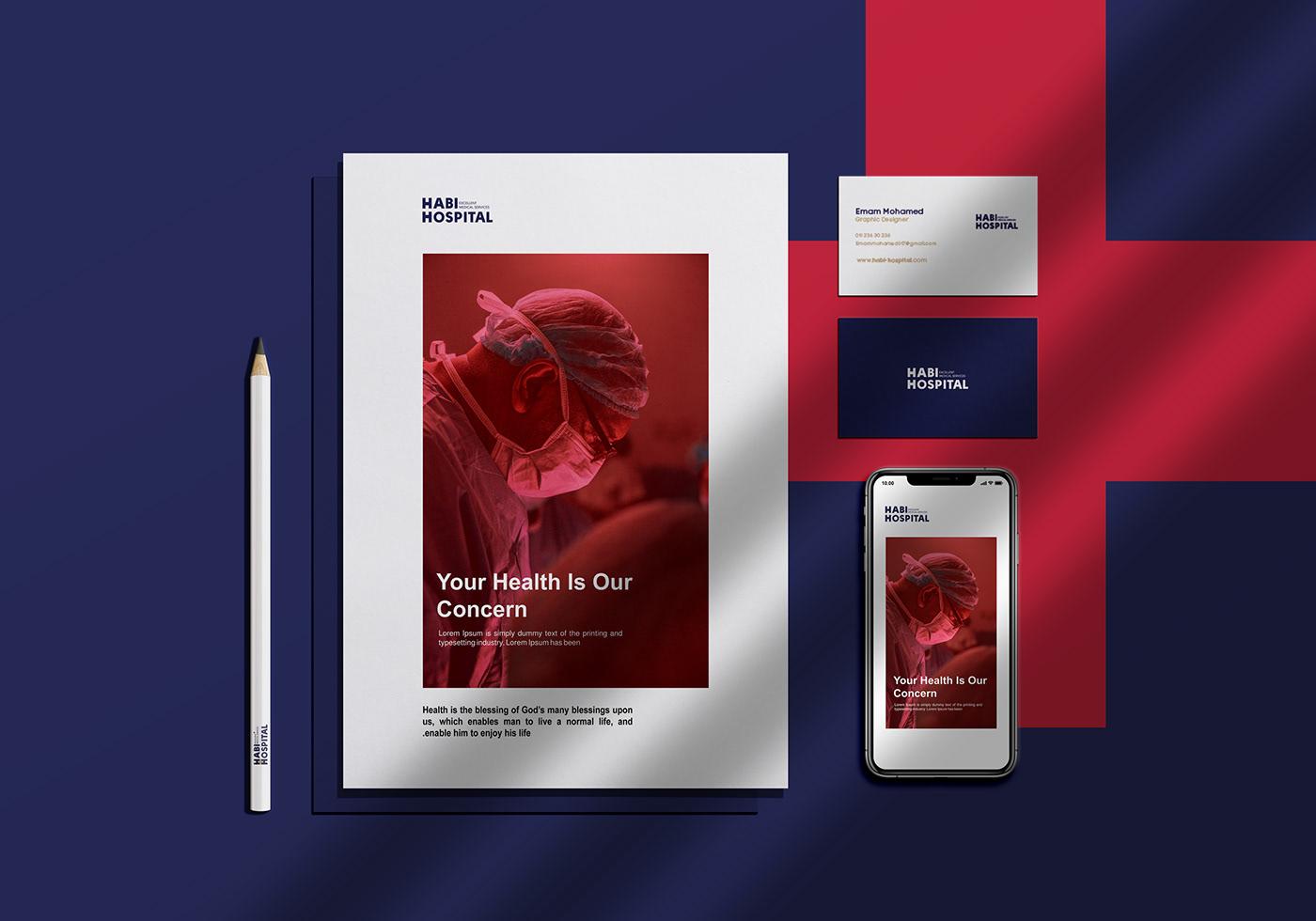 brand care doctor habi hospital logo medical Advertising  Health medicine