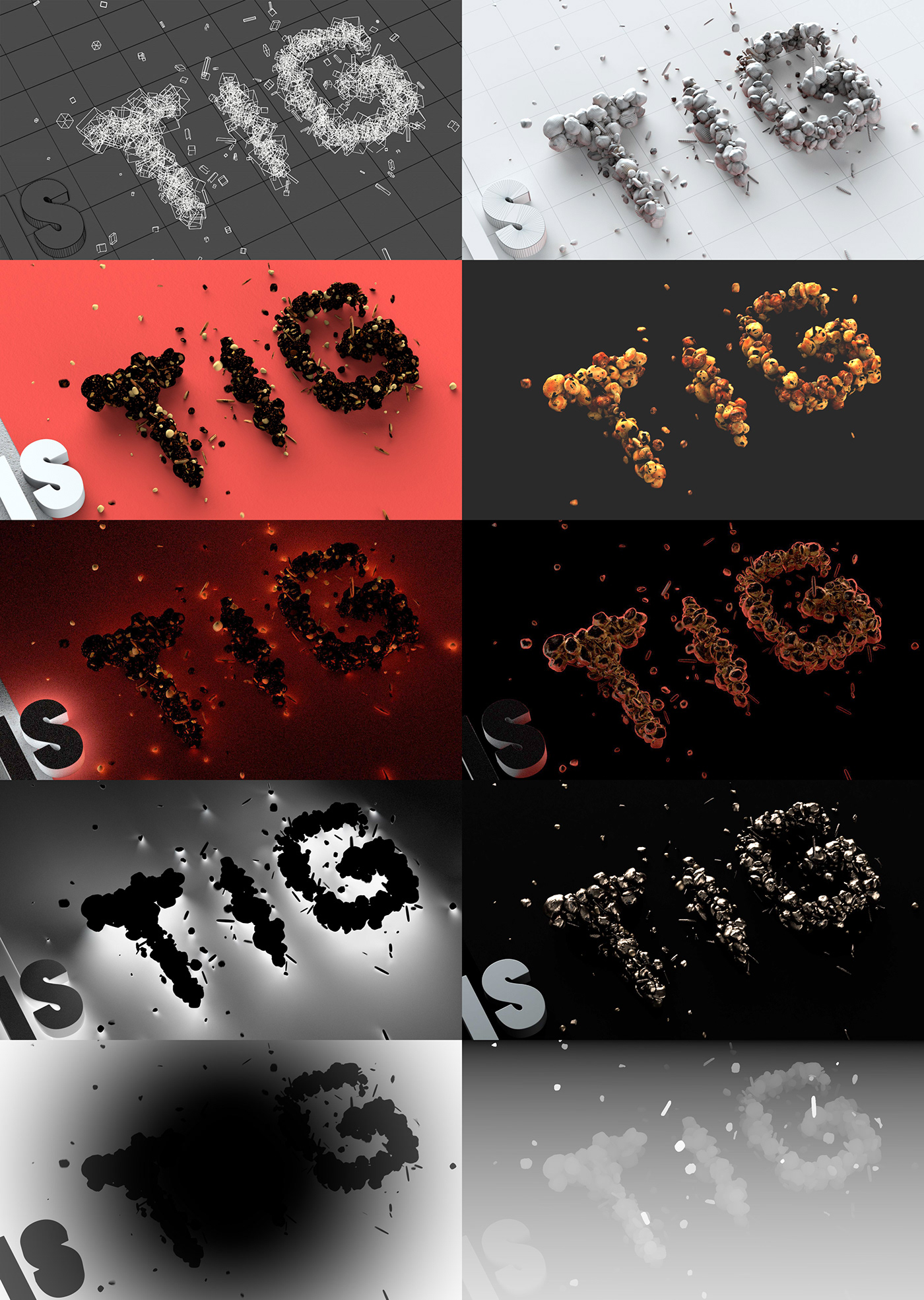 tig animation  CGI cinema 4d arnold 3D MoGraph motion graphics  snack bar