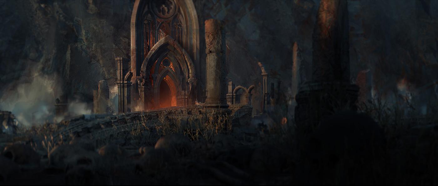 darkmood death deepblue environment foggy horror rock sanctuary